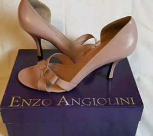 Womens Enzo Angiolini Pink/Mauve Leather Heels 8.5